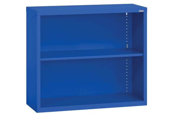 Elite Welded Bookcase - 1 Shelf - Blue