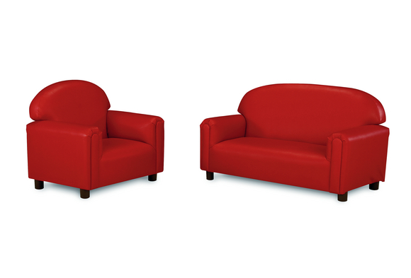 Brand New World School Age Vinyl Sofa   Red