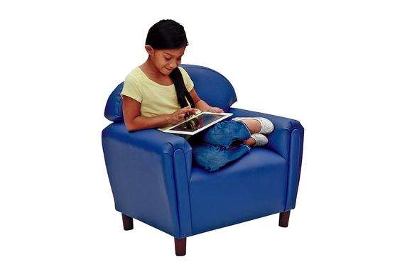 Brand New World School Age Enviro-Child Upholstery Chair - Deep Blue