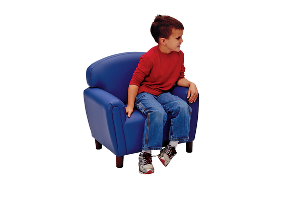 Brand New World Preschool Enviro-Child Upholstery Chair - Deep Blue