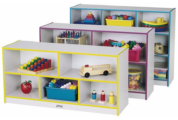 Rainbow Accents® Mobile Shelving, Preschool - Green