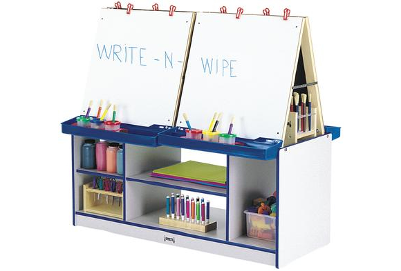 Rainbow Accents® 4-Station Easel - Yellow