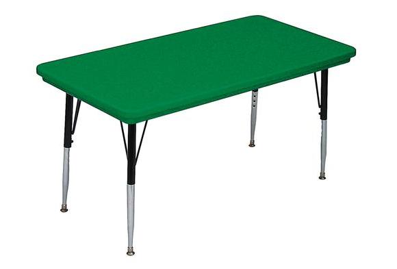 Lightweight Activity Table 24 x 48 Rectangle, High Leg - Green