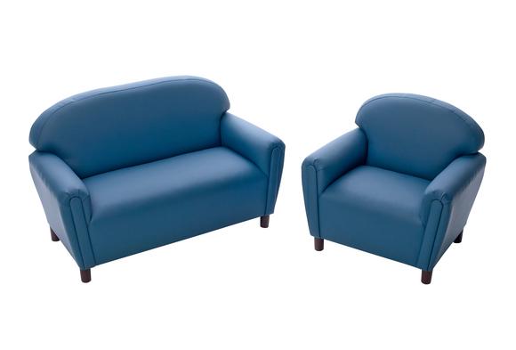 Enviro-Child School Age Sofa and Chair Set - Blue