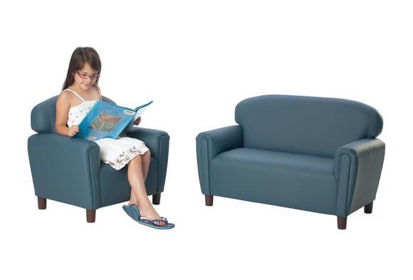 Enviro-Child Preschool Sofa and Chair Set - Blue