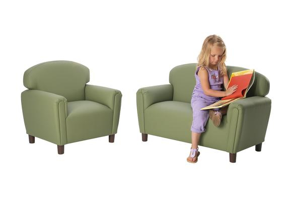 Enviro-Child Preschool Sofa and Chair Set - Green