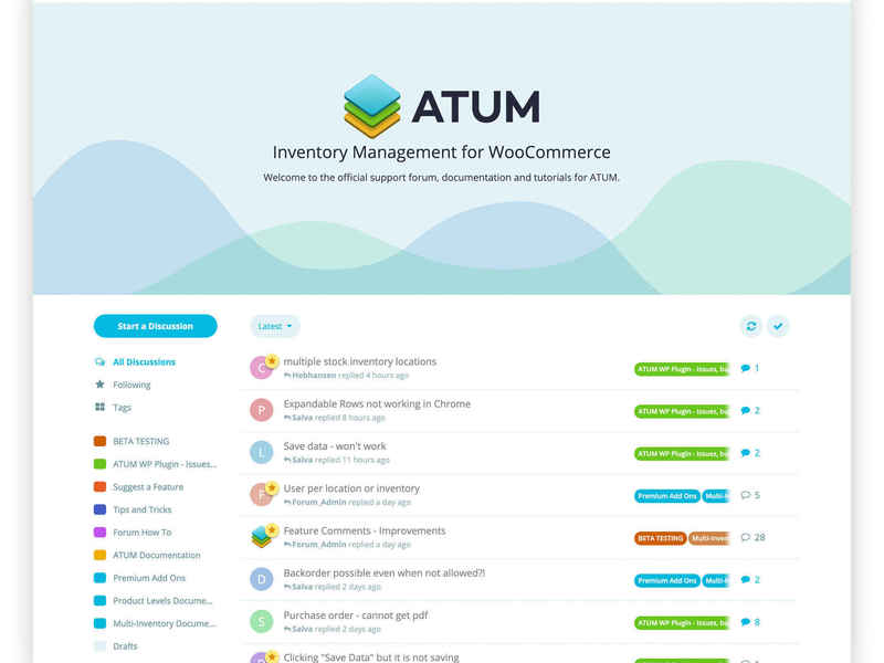 ATUM support forums