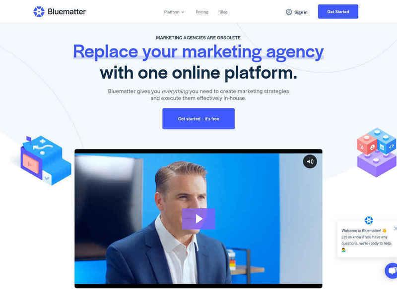 Bluematter Website - Divi build