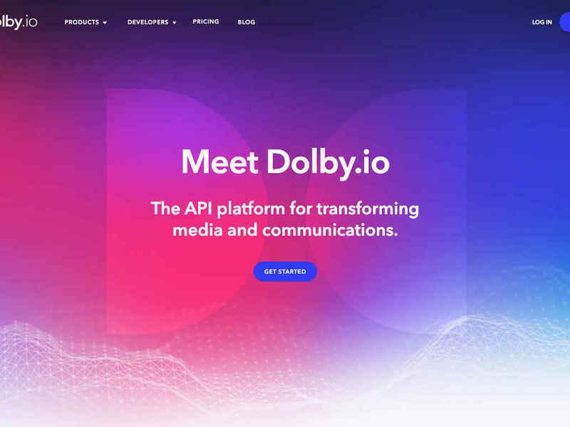 Dolby.io website