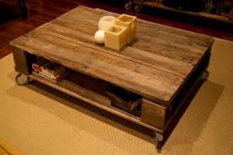 C mo hacer una mesa para el comedor con pallets de manera - Como hacer mesa comedor ...