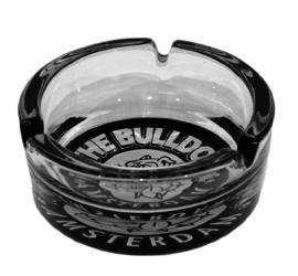 Cenicero Bulldog de Vidrio
