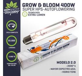 Ampolleta 400w Grow & Bloom Grow Genetics