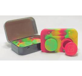 Contenedores de silicona con caja metálica