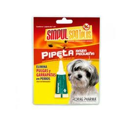 Pipeta Sinpul Spot Plus Raza Pequeña 2ml.