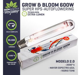 Ampolleta HPS 600w - GG Grow&Bloom