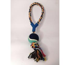 Juguete Mascota Cuerda y Pelota 35x1.5cm