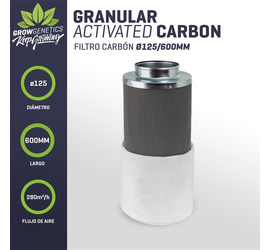 Filtro Carbon 125/600mm (280m3/h) - Grow Genetics