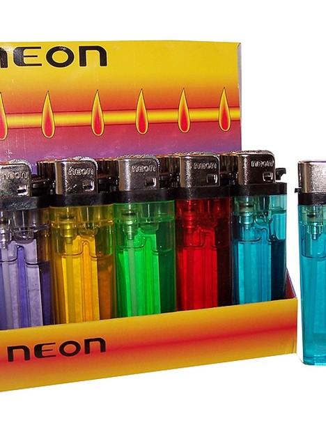 Encendedor Neon Transparente