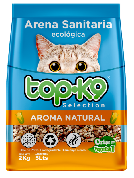 Arena Ecológica 2kg Top K9 Natural