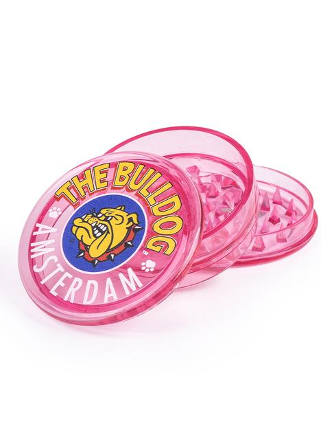 Grinder Bulldog Plastico Pink 3 Partes