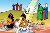 Picture 13. Jesus is Baptized