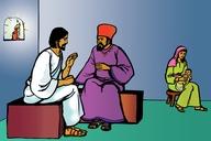 Picture 3. Jesus Speaks to Nicodemus