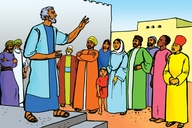 Picture 3. Peter Preaches to the People