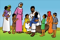 Picture 83. Jesus Blesses the Children