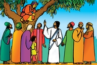 Picture 87. Jesus and Zacchaeus