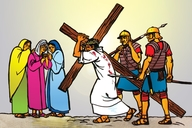 Picture 107. Jesus Led Out to be Crucified