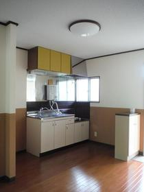 フラット中央 201号室のキッチン