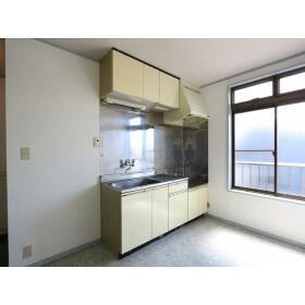 光ハイツ(上和田) 201号室のキッチン