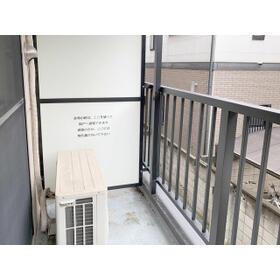 新都心プラザA 205号室のバルコニー