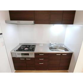 グリーンヒルA号棟 203号室のキッチン