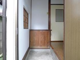 益子貸家の玄関