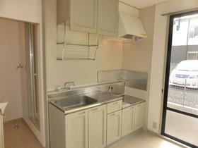 サンビレッジナガシマ B棟 201号室のキッチン