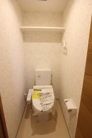 エメラルドブルー久が原 303号室のトイレ