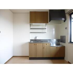 ビューテラス B 202号室のキッチン
