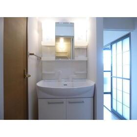 ビューテラス B 202号室の洗面所