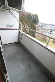 ハピネスソルファ 502号室 502号室のバルコニー