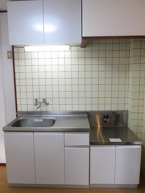 ジュネスシモガキ 01020号室のキッチン