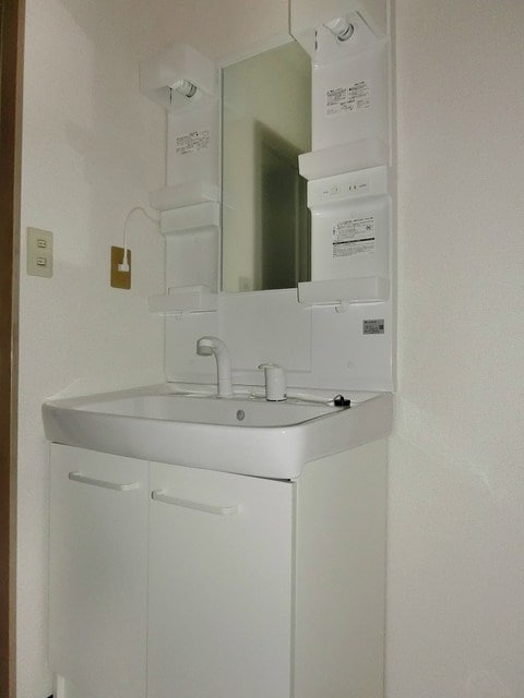 メゾンベールB 01020号室の洗面所