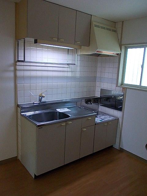 グリーンハイツアサカワ 02020号室のキッチン