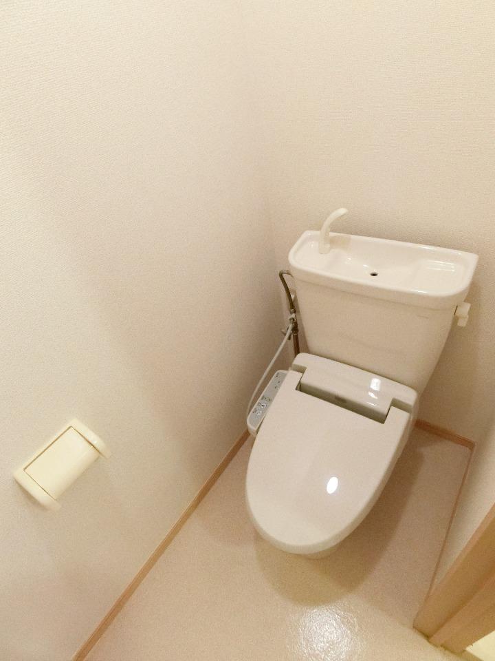 メイプル.ウエスト 01040号室のトイレ
