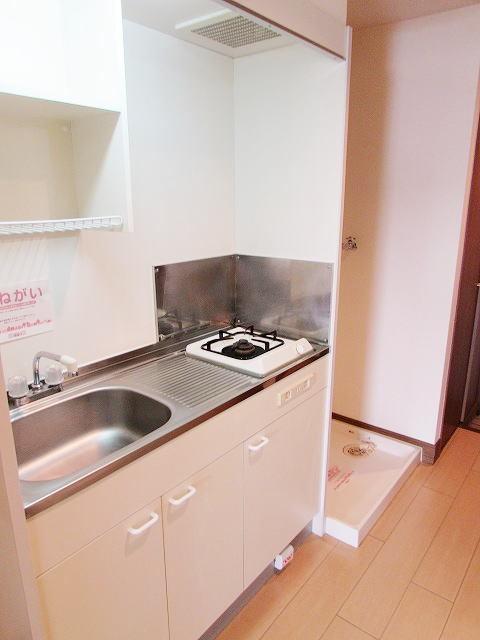 グレイスシャトル 02020号室のキッチン