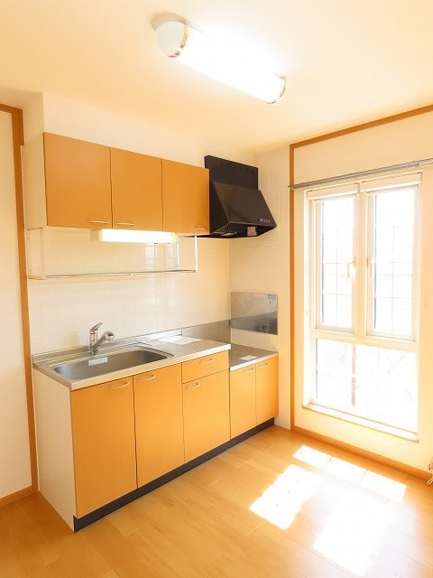 メゾン・ソレイユB 02010号室のキッチン