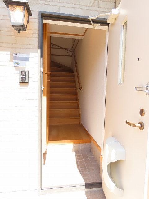 メゾン・ソレイユB 02010号室の玄関