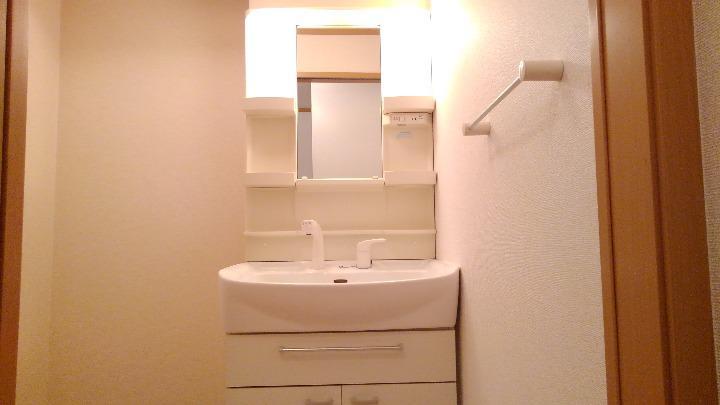 アルモニーA 01020号室の洗面所