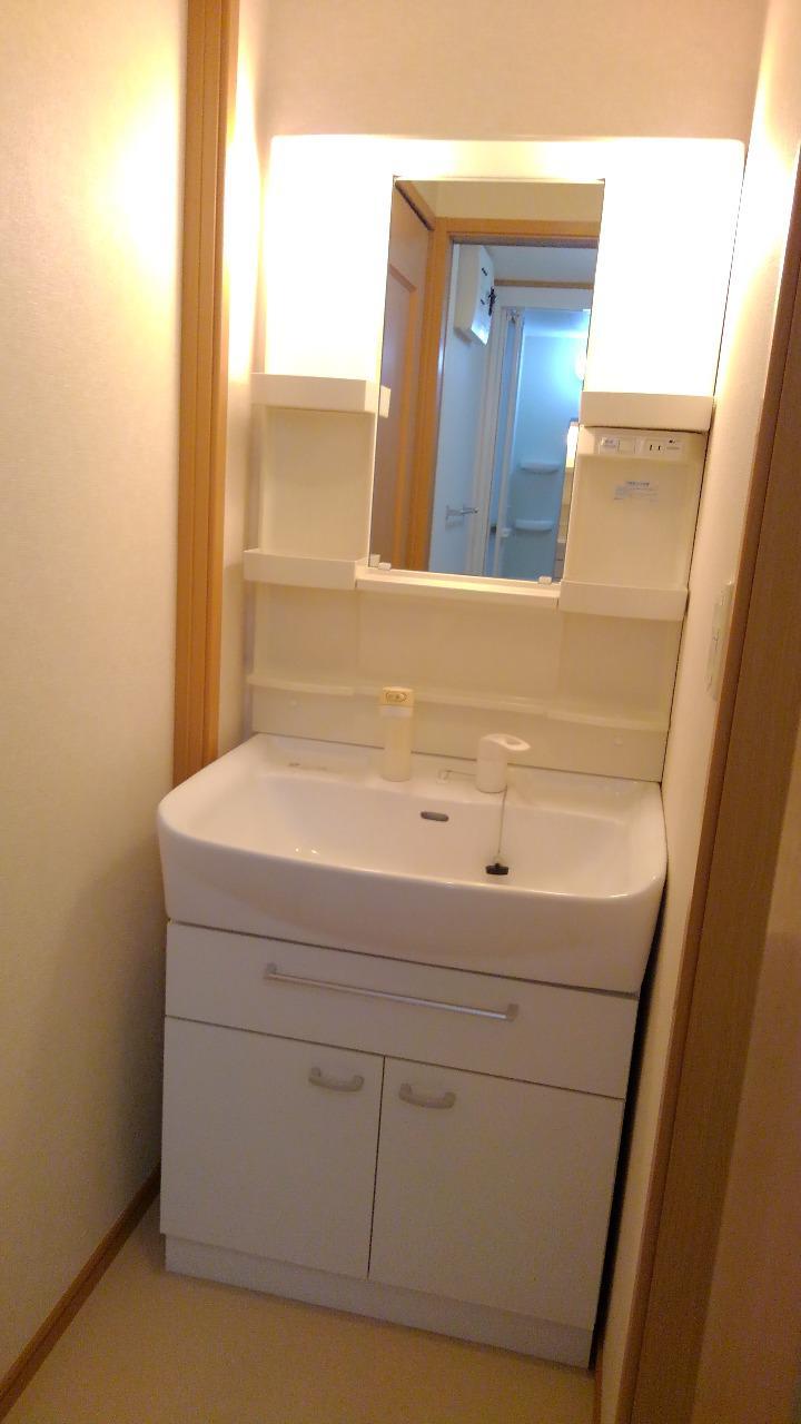シャン・ド・フルール 01020号室の洗面所