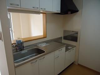キューズルミエールB 01040号室のキッチン